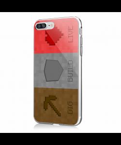 Minecraft 2 - iPhone 7 Plus / iPhone 8 Plus Carcasa Transparenta Silicon
