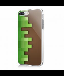 Minecraft - iPhone 7 Plus / iPhone 8 Plus Carcasa Transparenta Silicon