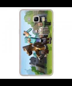 Minecraft Horse - Samsung Galaxy J7 2017 Carcasa Transparenta Silicon