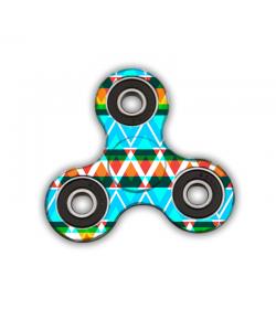 Fidget Spinner - Neon Aztec