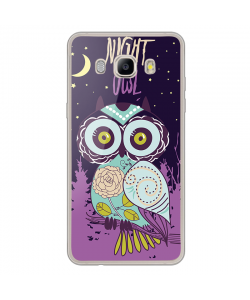 Night Owl - Samsung Galaxy J7 Carcasa Silicon Transparent