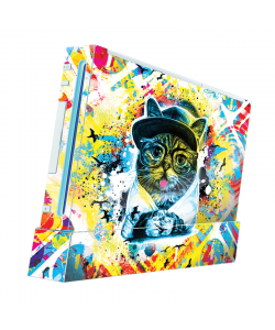Hipster Meow - Nintendo Wii Consola Skin