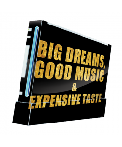 Good Music Black - Nintendo Wii Consola Skin