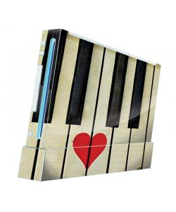 Piano Love - Nintendo Wii Consola Skin