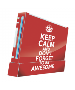 Keep Calm and Be Awesome - Nintendo Wii Consola Skin