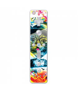 Hipster Meow - Nintendo Wii Remote Skin