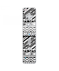 Tribal Black & White - Nintendo Wii Remote Skin
