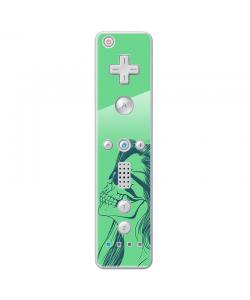 Skull Girl - Nintendo Wii Remote Skin