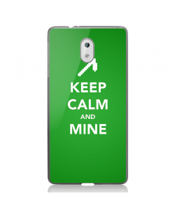Keep Calm and Mine - Nokia 3 Carcasa Transparenta Silicon