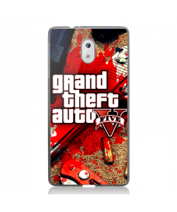 Grand Theft Auto V - Nokia 3 Carcasa Transparenta Silicon