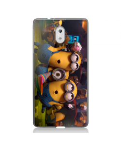 Party Minions - Nokia 3 Carcasa Transparenta Silicon