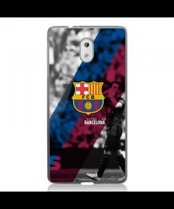 FC Barcelona 2 - Nokia 3 Carcasa Transparenta Silicon