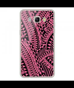 Pink & Black - Samsung Galaxy J7 Carcasa Silicon Transparent