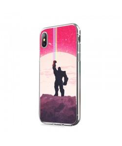 The Power of Thanos - iPhone X Carcasa Transparenta Silicon