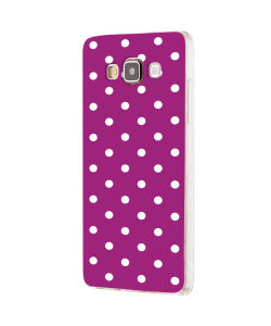 Purple White Dots - Samsung Galaxy J5 Carcasa Silicon