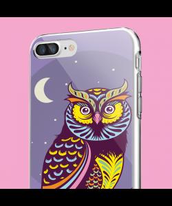Purple Nights - iPhone 7 Plus / iPhone 8 Plus Carcasa Transparenta Silicon
