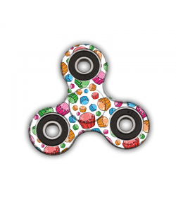 Fidget Spinner - Rainbow Cupcakes