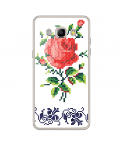 Red Rose - Samsung Galaxy J7 Carcasa Silicon Transparent