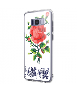 Red Rose - Samsung Galaxy S8 Plus Carcasa Premium Silicon