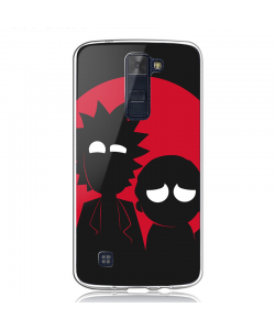 Rick and Morty - LG K8 2017 Carcasa Transparenta Silicon