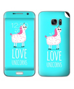 Love Unicorns - Samsung Galaxy S7 Edge Skin