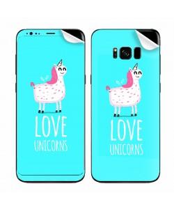Love Unicorns - Samsung Galaxy S8 Skin