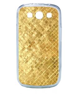 Squares - Samsung Galaxy S3 Carcasa Transparenta Plastic