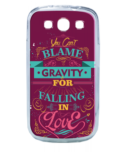 Falling in Love - Samsung Galaxy S3 Carcasa Silicon