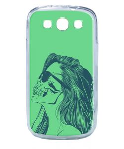 Skull Girl - Samsung Galaxy S3 Carcasa Transparenta Plastic