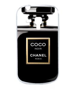 Coco Noir Perfume - Samsung Galaxy S3 Mini Carcasa Transparenta Silicon