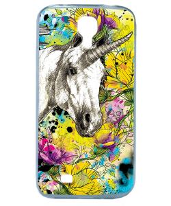 Unicorns and Fantasies - Samsung Galaxy S4 Carcasa Transparenta Silicon