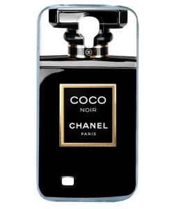 Coco Noir Perfume - Samsung Galaxy S4 Carcasa Transparenta Silicon