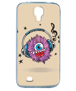 Fluffy Headphones - Samsung Galaxy S4 Carcasa Transparenta Silicon
