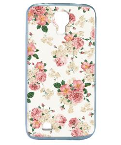 Peacefully Pink - Samsung Galaxy S4 Carcasa Transparenta Silicon