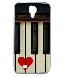 Piano Love - Samsung Galaxy S4 Carcasa Transparenta Silicon