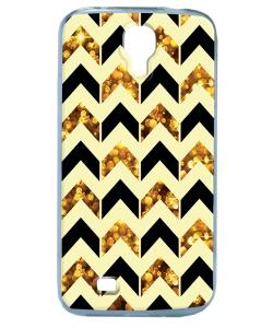 Black & Gold - Samsung Galaxy S4 Carcasa Transparenta Silicon