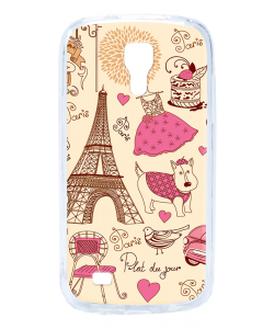 France - Samsung Galaxy S4 Mini Carcasa Transparenta Silicon