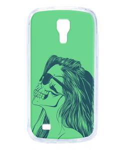 Skull Girl - Samsung Galaxy S4 Mini Carcasa Transparenta Silicon