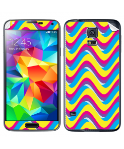 CMYK Waves - Samsung Galaxy S5 Skin