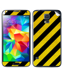 Caution - Samsung Galaxy S5 Skin