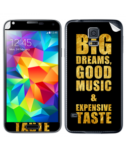 Good Music Black - Samsung Galaxy S5 Skin