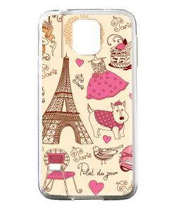 France - Samsung Galaxy S5 Mini Carcasa Transparenta Silicon