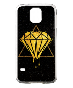 Diamond - Samsung Galaxy S5 Mini Carcasa Transparenta Silicon