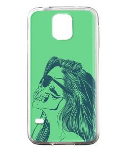 Skull Girl - Samsung Galaxy S5 Mini Carcasa Transparenta Silicon