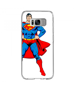 Superman - Samsung Galaxy S8 Plus Carcasa Transparenta silicon