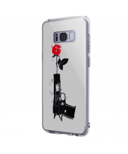 Flower Gun - Samsung Galaxy S8 Carcasa Premium Silicon