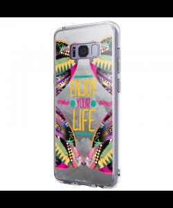 Enjoy Your Life - Samsung Galaxy S8 Carcasa Premium Silicon
