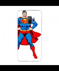 Superman - Samsung Galaxy S9 Carcasa Transparenta Silicon