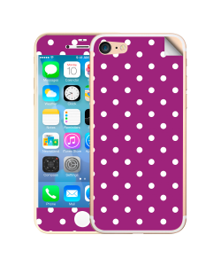 Purple White Dots - iPhone 7 / iPhone 8 Skin