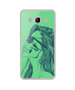 Skull Girl - Samsung Galaxy J7 Carcasa Silicon Transparent